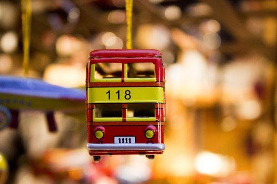 автобус елочная игрушка