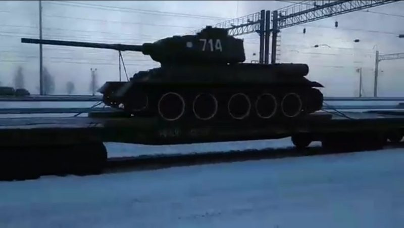 Эшелон станками Т-34, полученными изЛаоса, прибыл вЗабайкальский край