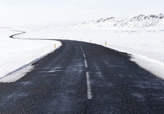 дорога снег зима